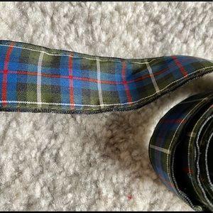 American Eagle Retro 90s Fabric Plaid Belt…